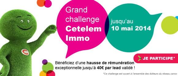 Participez au grand challenge Cetelem Immo !