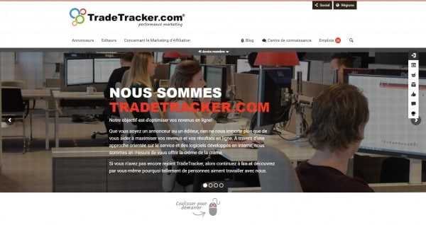TradeTracker.com lance son nouveau site