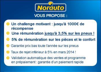 Remportez 1000 € de bonus grâce au challenge Norauto !