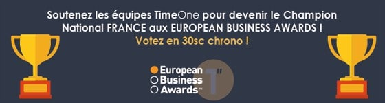 European Business Awards : Votez pour Timeone !